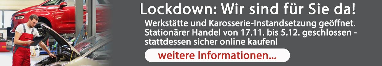 Lockdown: Wir sind für Sie da!